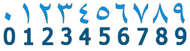 números arabe