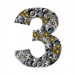 significado numero tres
