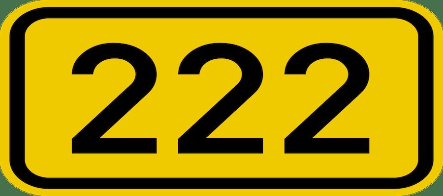 numero 222 significado